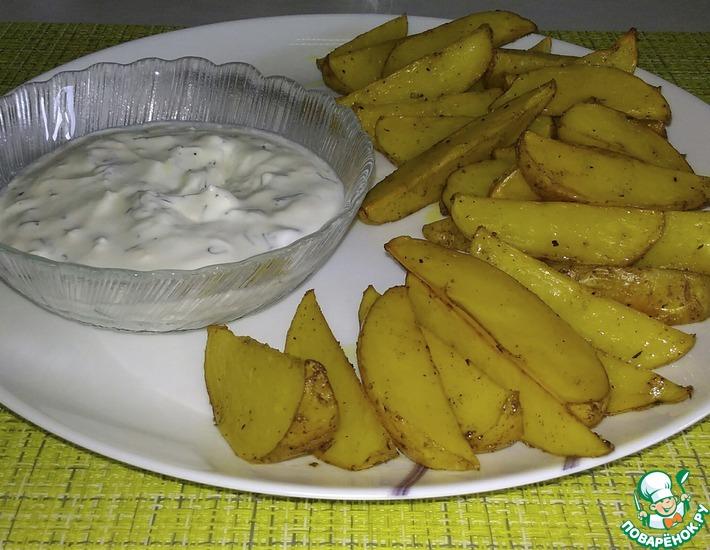 Рецепт: Молодой картофель по-деревенски в духовке