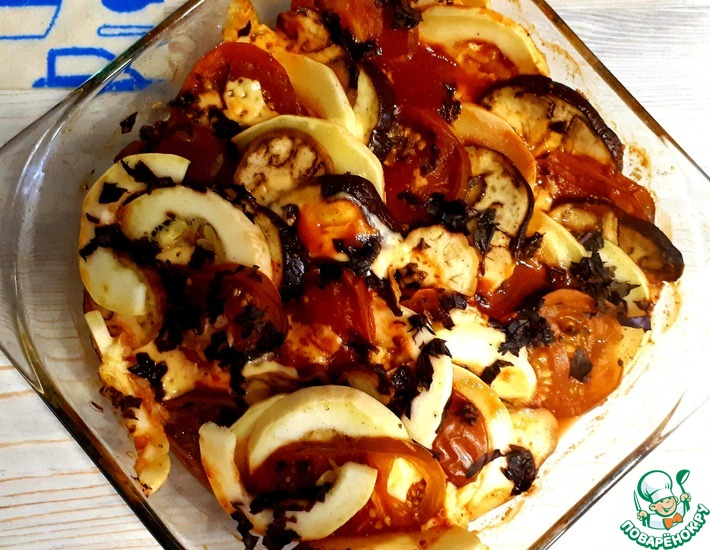 Рецепт: Домашний Рататуй с сыром