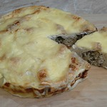 Пирог из лаваша с курицей и баклажанами