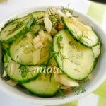 Салат из огурца и лука