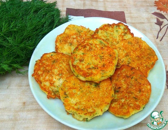 Рецепт: Картофельные деруны с колбасой