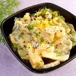 Салат с соленым огурцом и яйцом