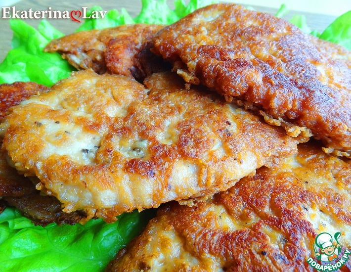 Рецепт: Куриные отбивные в сырном кляре