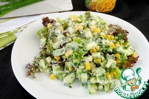 Салат переложить на тарелку или в салатницу.   Использовать сразу.