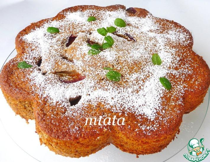 Рецепт: Орехово-сливовый пирог
