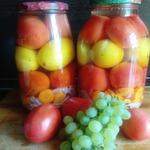 Помидоры по-болгарски на овощной подушке