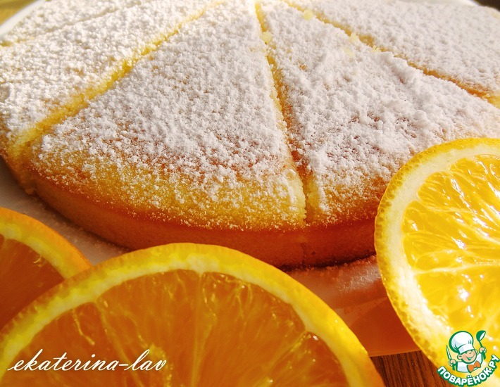 Рецепт: Быстрый пирог с цитрусовой ноткой