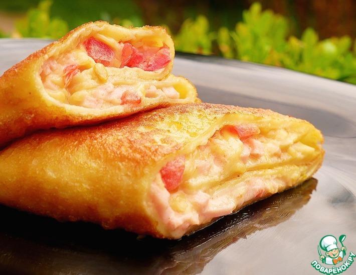 Рецепт: Начинка для блинов со вкусом пиццы