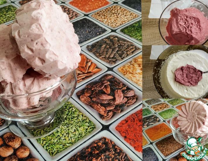 Рецепт: Мороженое с творогом и вишней