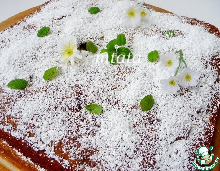 Рецепт: Яблочный пирог с инжиром и орехами