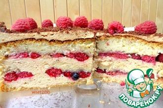 Рецепт: Торт «Малиновая радость»