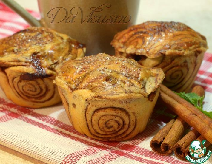 Рецепт: Маффины с яблоком и корицей