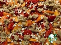 Персиковый открытый пирог ингредиенты