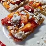 Персиковый открытый пирог