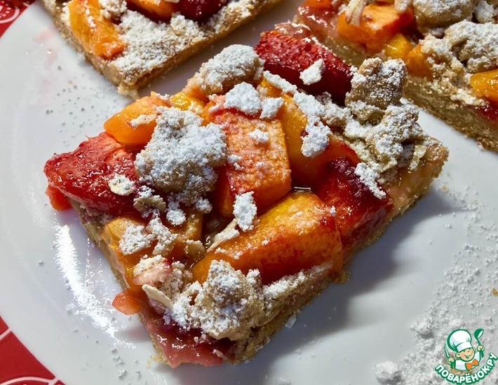 Рецепт: Персиковый открытый пирог