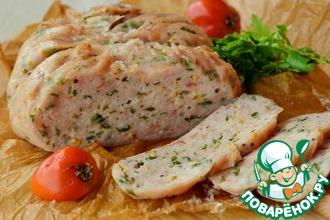 Рецепт: Крафтовая куриная колбаса с петрушкой