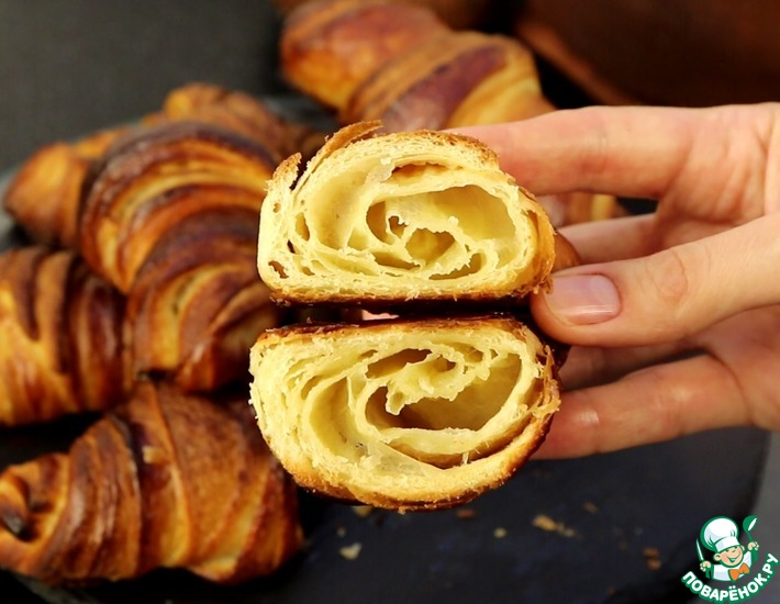 Рецепт: Французские круассаны