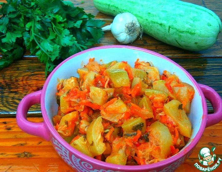 Рецепт: Тушеные кабачки