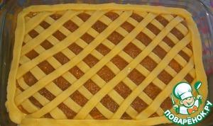 Пирог с творогом и яблоками Сахар