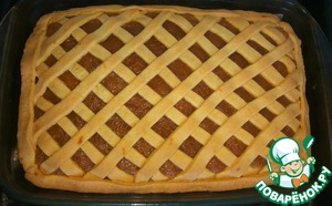 Пирог с творогом и яблоками Разрыхлитель теста