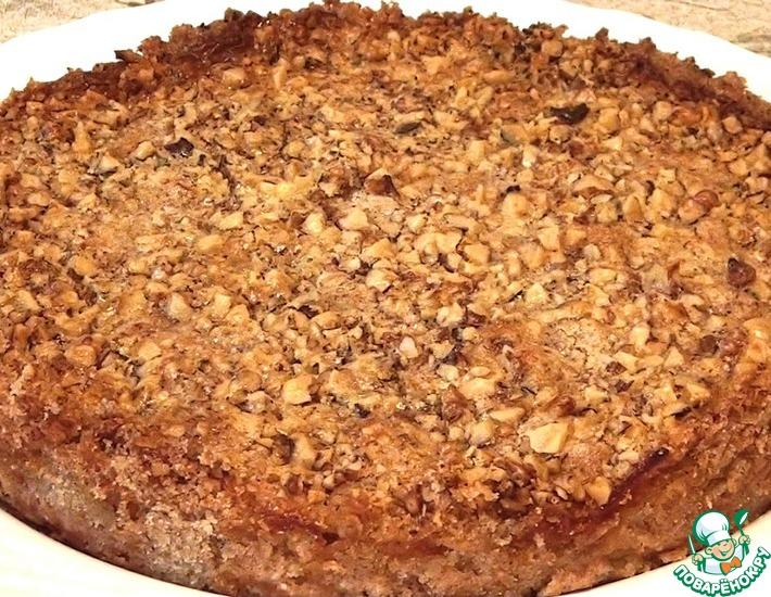 Рецепт: Болгарский насыпной яблочный пирог