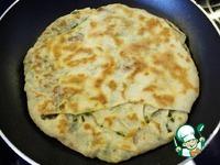Лепёшка Катлама с зелёным луком ингредиенты