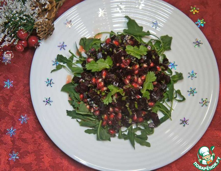 Рецепт: Салат из свеклы с гранатом