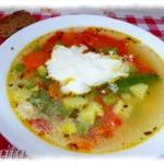 Суп с мясными конфетами – кулинарный рецепт