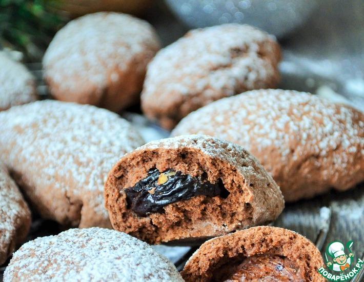 Рецепт: Печенье Чернослив в шоколаде