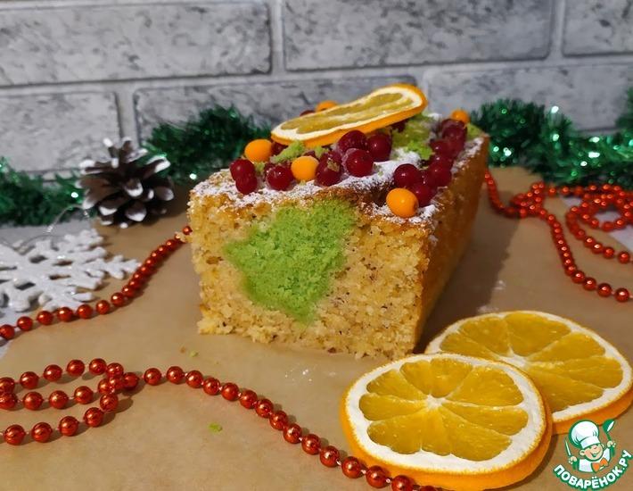 Рецепт: Новогодний кекс Елочка