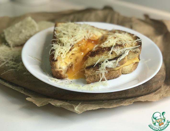 Рецепт: Сырный сэндвич с яйцом