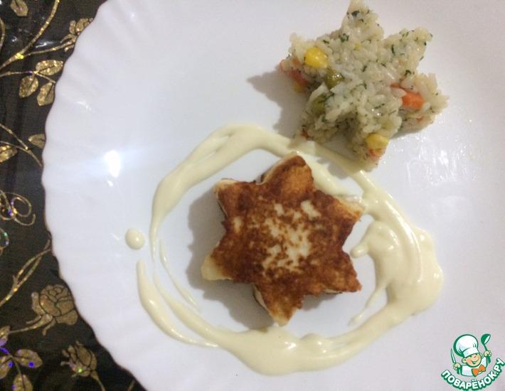 Рецепт: Курино-творожные звёздочки со сливочным соусом