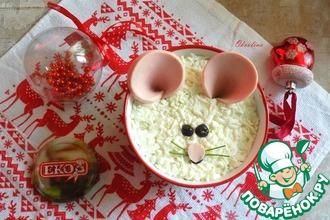 Рецепт: Салат мясной Белый Мышь