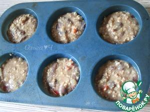 Разогреть духовку до 180*С. Формочки для кексов смазать маслом, разложить массу толщиной в 1-1,5 см. ***Получается 12-15 штук в зависимости от диаметра формочек.