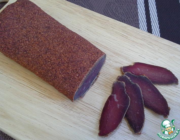 Рецепт: Бастурма из говядины