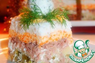 Рецепт: Слоеный зимний салат