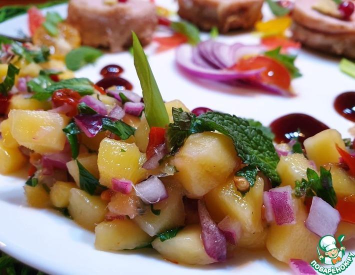 Рецепт: Острый соус сальса из манго