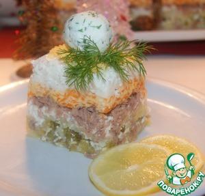 Слоеный зимний салат Укроп