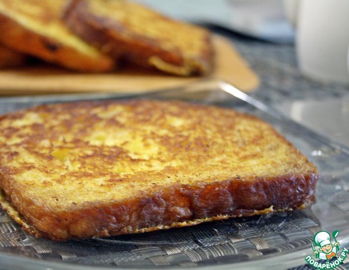 Рецепт: Ванильные французские тосты