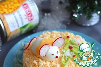 Рецепт: Салат с курицей Щелкунчик