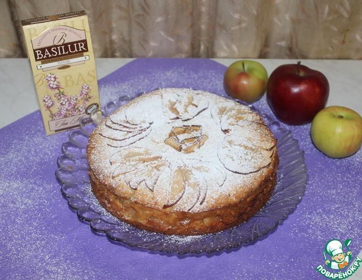Рецепт: Яблочный пирог на творожном тесте