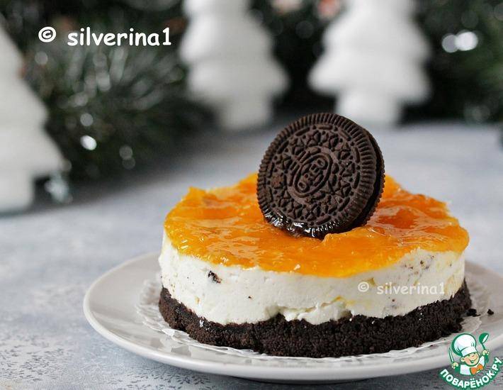 Рецепт: Творожный чизкейк с печеньем Орео