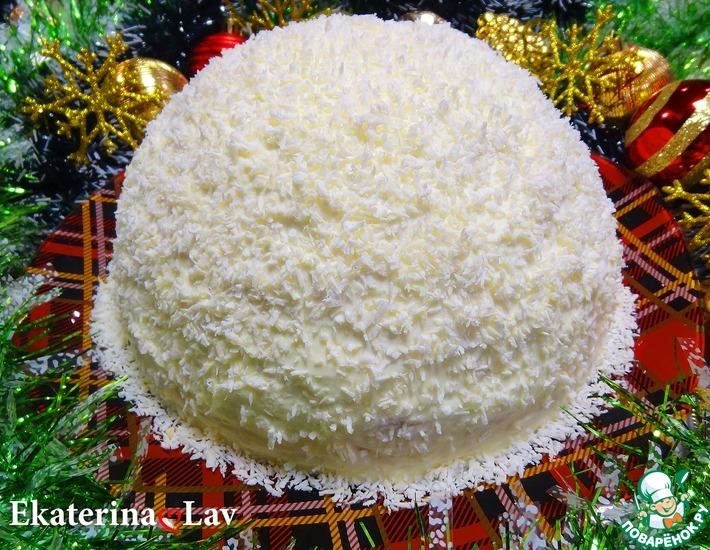 Рецепт: Торт Зимний или Снежный Панчо