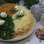 Новогодний салат Три в одном