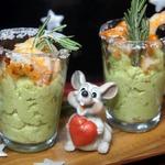 Веррины из авокадо с креветками