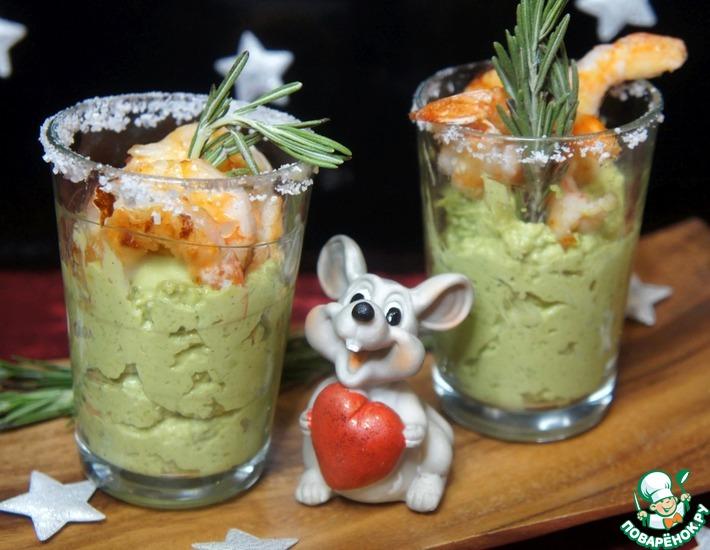 Рецепт: Веррины из авокадо с креветками