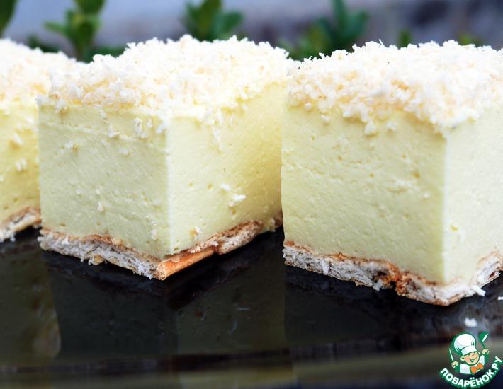 Рецепт: Торт без выпечки Снежный пух