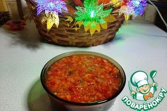 Рецепт: Томатный соус с кинзой