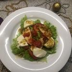Салат с карамелизированным грейпфрутом