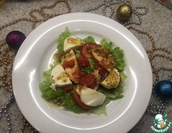 Рецепт: Салат с карамелизированным грейпфрутом